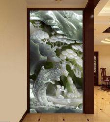 精美3D玉雕玄关背景墙